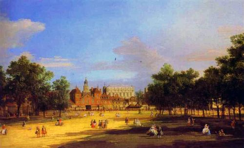 London - The Old Horse Guards and Banqueting Hall by Giovanni Antonio Canaletto