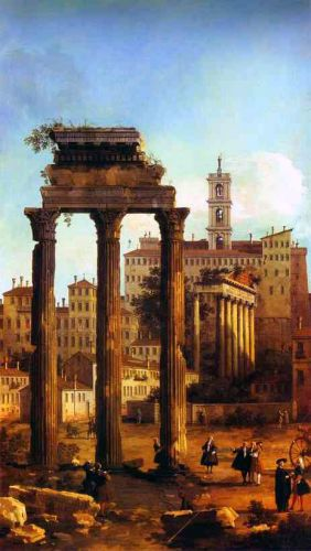 Rome - Ruins of the Forum by Giovanni Antonio Canaletto