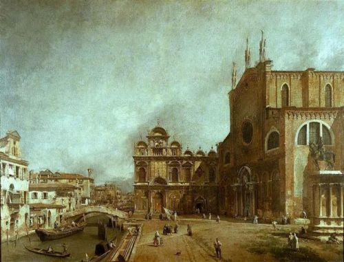 The Church of Saints John and Paul by Giovanni Antonio Canaletto