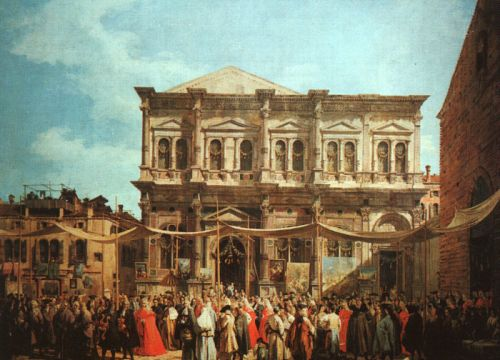 The Feast Day of St Roch by Giovanni Antonio Canaletto