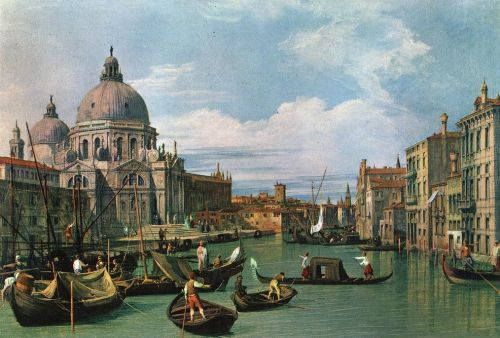 The Grand Canal and the Church of the Salute by Giovanni Antonio Canaletto