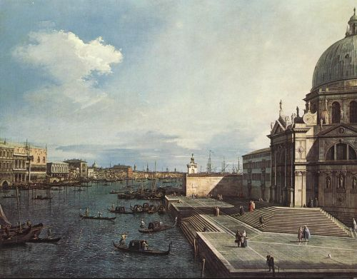 The Grand Canal at the Salute Church by Giovanni Antonio Canaletto