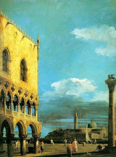 The Piazzetta - Looking South by Giovanni Antonio Canaletto