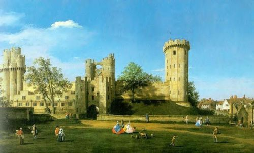 Warwick Castle - The East Front by Giovanni Antonio Canaletto