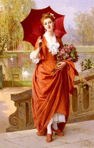The Red Parasol by Joseph Caraud