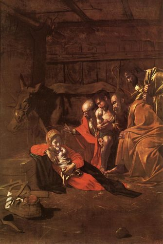 Adoration of the Shepherds by Michelangelo Merisi da Caravaggio