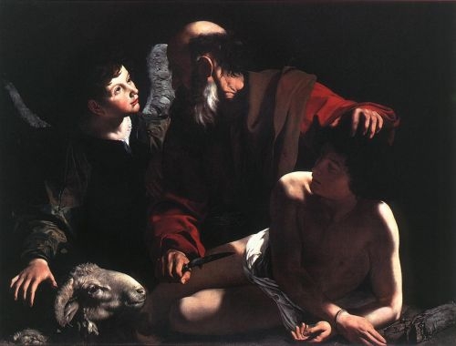 The Sacrifice of Isaac by Michelangelo Merisi da Caravaggio