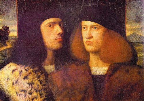 Portrait of Two Young Men by Giovanni Cariani