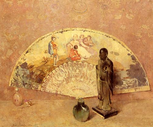 The French Fan by Emil Carlsen