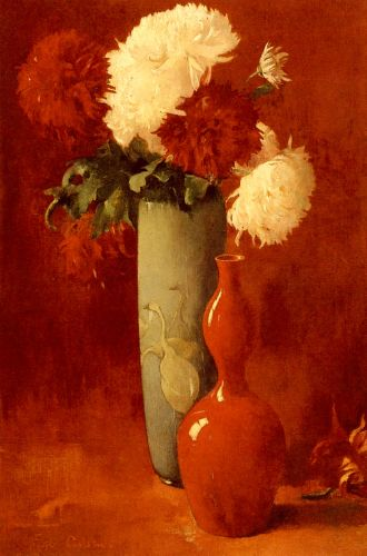 Vases And Flowers by Emil Carlsen