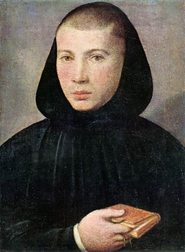 Portrait of a Young Benedictine by Giovanni Francesco Caroto