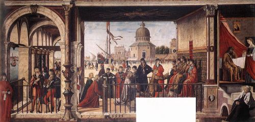Arrival of the English Ambassadors by Vittore Carpaccio