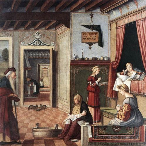 Birth of the Virgin by Vittore Carpaccio