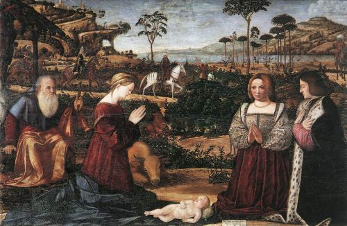 Holy Family with Two Donors by Vittore Carpaccio