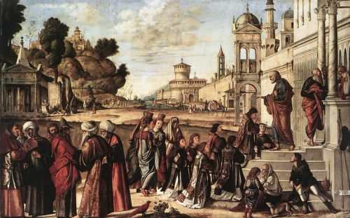 St Stephen is Consecrated Deacon by Vittore Carpaccio