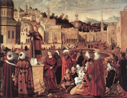 The Sermon of St Stephen by Vittore Carpaccio
