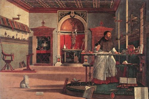 Vision of St Augustin by Vittore Carpaccio