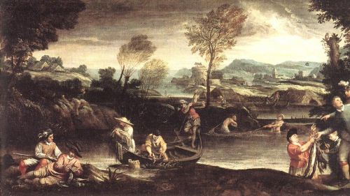 Fishing by Annibale Carracci