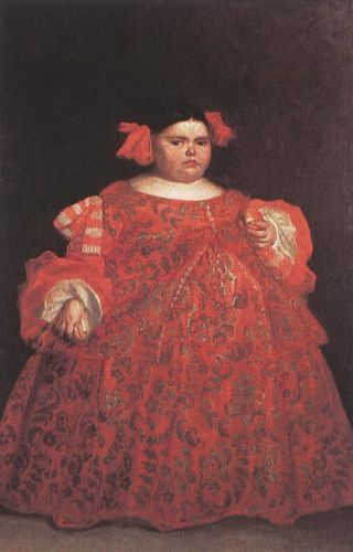 Eugenia Martinez Valleji, called La Monstrua by Juan Carreño de Miranda