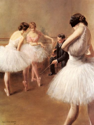 The Ballet Lesson by Pierre Carrier-Belleuse