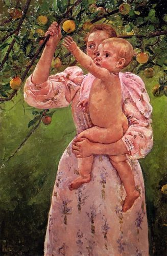 Baby Reaching for an Apple by Mary Cassatt
