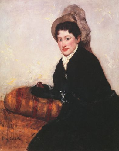 Portrait of a Woman Dressed for Matinee by Mary Cassatt