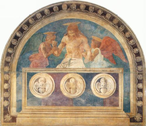 Christ in the Sepulchre with Two Angels by Andrea del Castagno