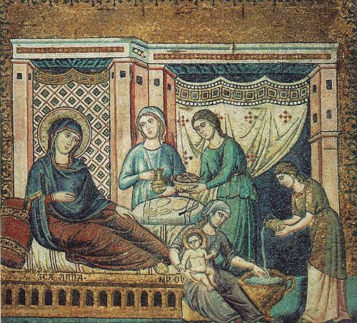 Nativity of the Virgin by Pietro Cavallini