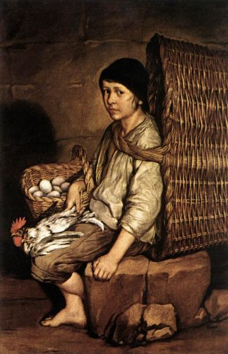 Boy with a Basket by Giacomo Ceruti