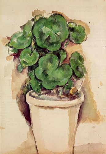 A Pot of Geraniums, 1885 by Paul Cézanne