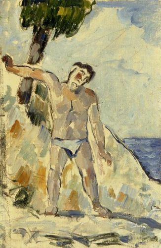Bather with Arms Spread, 1876 by Paul Cézanne