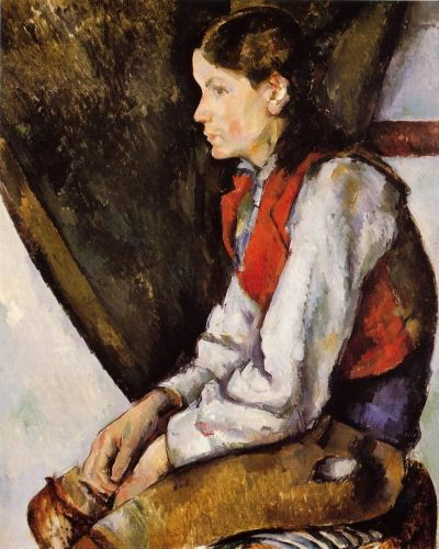 Boy in a Red Vest, 1888-1890 by Paul Cézanne