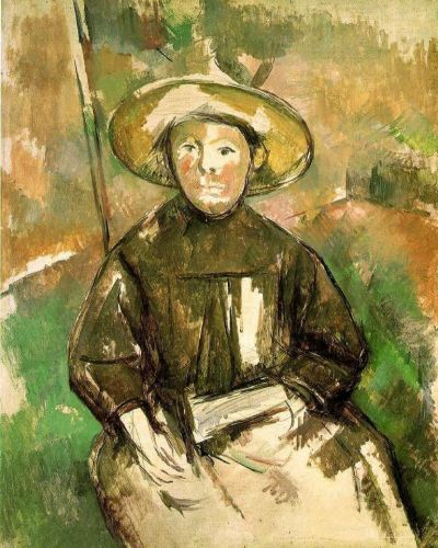 Child with Straw Hat, 1896 by Paul Cézanne