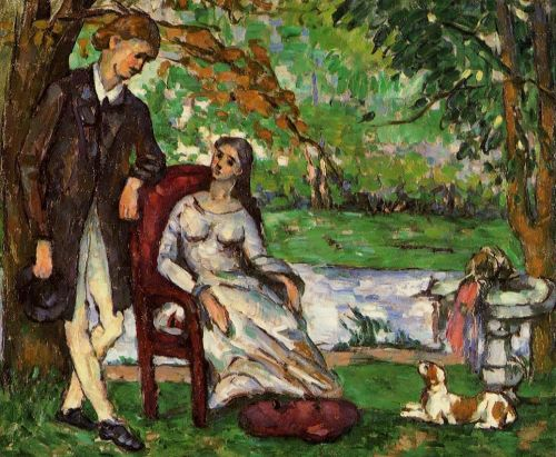 Couple in a Garden (The Conversation), 1872-1873 by Paul Cézanne