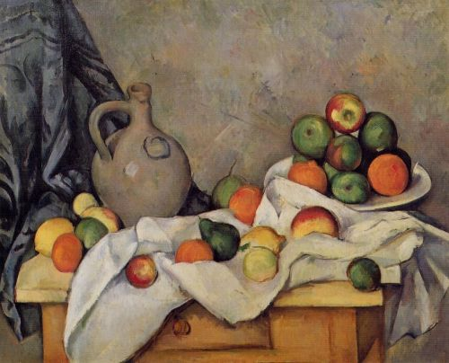 Curtain, Jug and Fruit, 1893-1894 by Paul Cézanne
