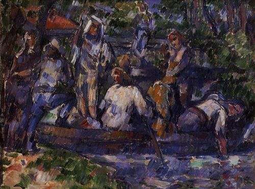 Departure by Water, 1879-1882 by Paul Cézanne