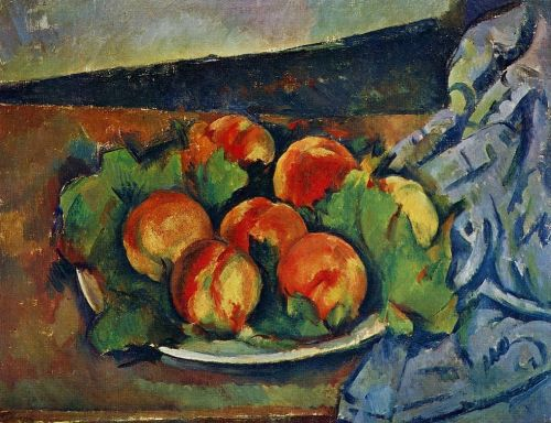 Dish of Peaches, 1890-1894 by Paul Cézanne