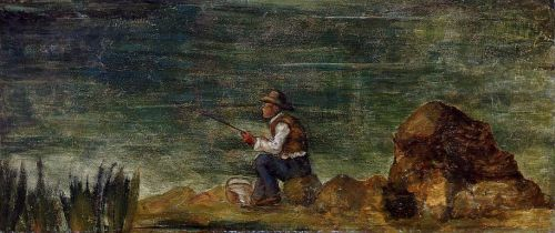 Fisherman on the Rocks, 1862-1864 by Paul Cézanne
