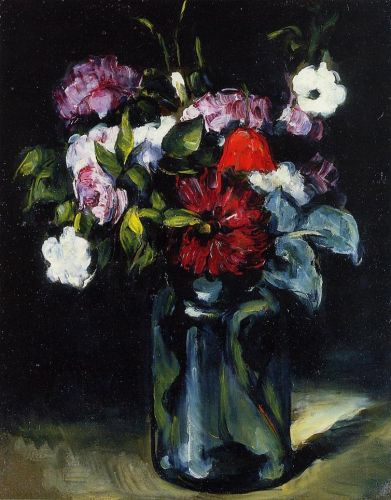 Flowers in a Vase, 1872-1873 by Paul Cézanne