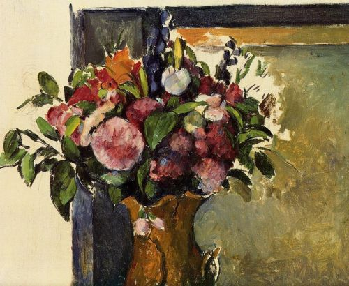 Flowers in a Vase, 1879-1882 by Paul Cézanne