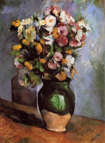 Flowers in an Olive Jar, 1880 by Paul Cézanne