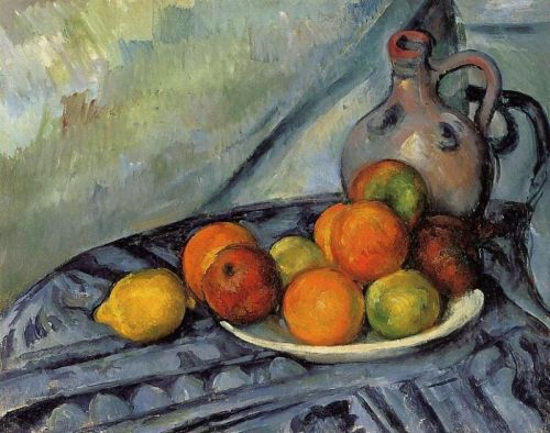 Fruit and Jug on a Table, 1890-1894 by Paul Cézanne