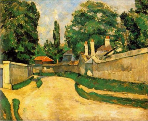 Houses along a Road (Maisons au bord d'une route), 1881 by Paul Cézanne