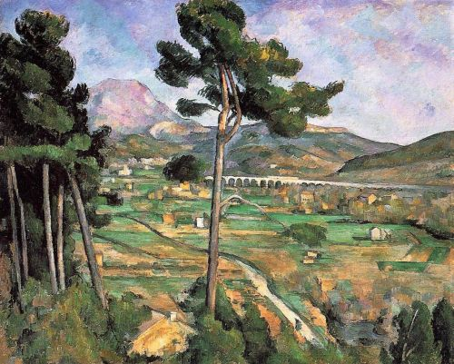 Landscape with Viaduct: Mont Sainte-Victoire (Mont Sainte-Victoire and the Viaduct of the Arc River Valley), 1885-1887 by Paul Cézanne