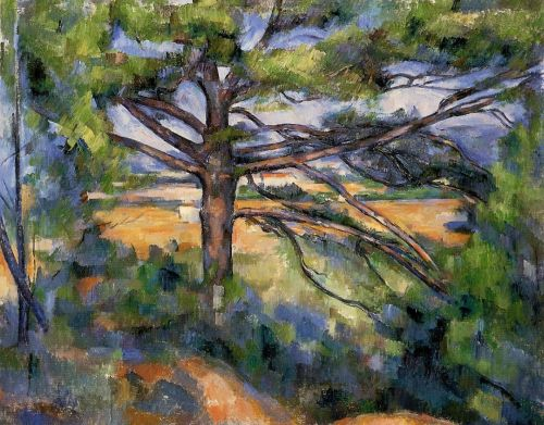 Large Pine and Red Earth, 1890-1895 by Paul Cézanne