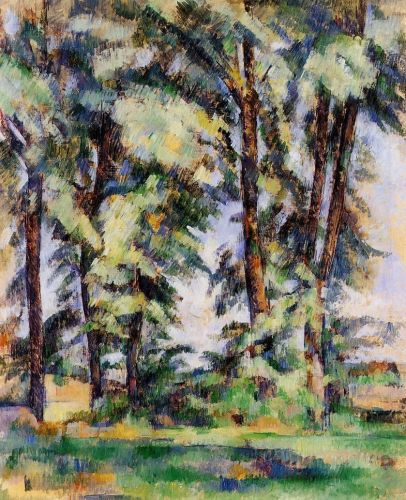 Large Trees at Jas de Bouffan, 1890 by Paul Cézanne
