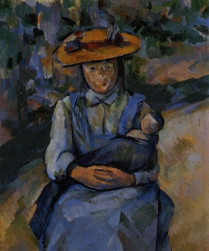 Little Girl with a Doll, 1902-1904 by Paul Cézanne
