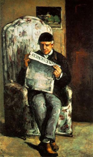 Louis-Auguste Cezanne, Father of the Artist, Reading 'L'Even, 1866 by Paul Cézanne