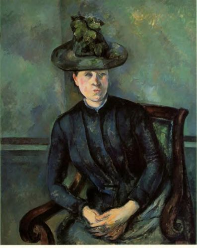 Madame Cezanne (Woman in a Green Hat), 1894-1895 by Paul Cézanne
