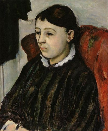 Madame Cezanne in a Striped Robe, 1882-1884 by Paul Cézanne